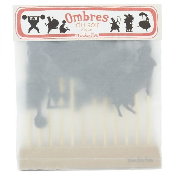 moulin roty circus night time shadow puppets packaging