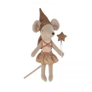Maileg Dream and Tooth Fairy Mouse Girl in Matchbox with Tooth Tin