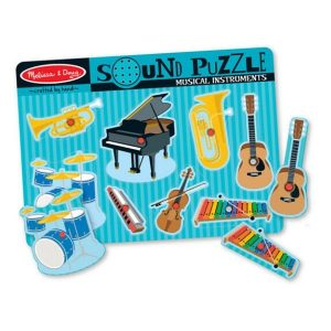Melissa And Doug Wooden Musical Instruments Sound Puzzle
