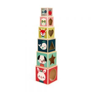 Janod Baby Forest 6 Block Pyramid (Wood)