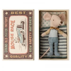 Maileg Little Brother Mouse in Matchbox