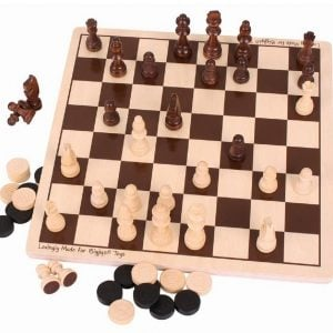 Bigjigs Draughts and Chess Game