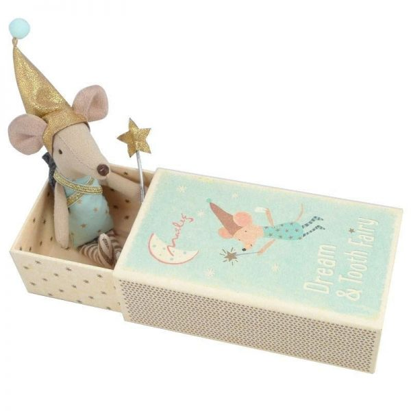 Maileg tooth fairy boy mouse closed box