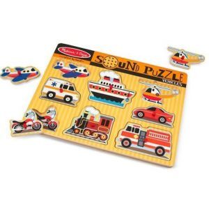 Melissa And Doug Wooden Vehicles Sound Puzzle