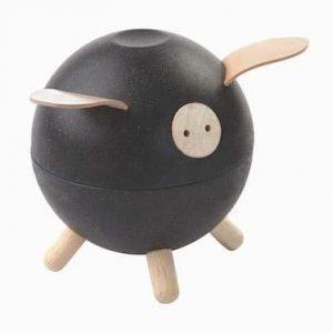 Plan Toys Black Piggy Bank