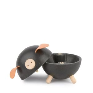 Plan Toys Black Piggy Bank