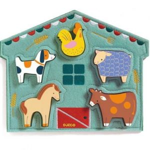 Djeco Mowy Fabric and Wood Puzzle