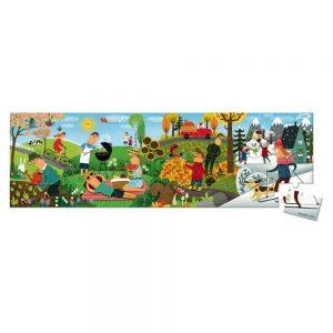 Janod Four Seasons Hatbox Puzzle 36pc