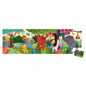Janod Panoramic Jungle Hatbox Puzzle 36pc