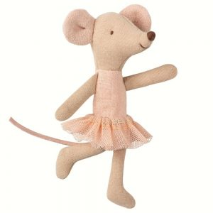 Maileg Ballerina Big Sister Mouse in Suitcase