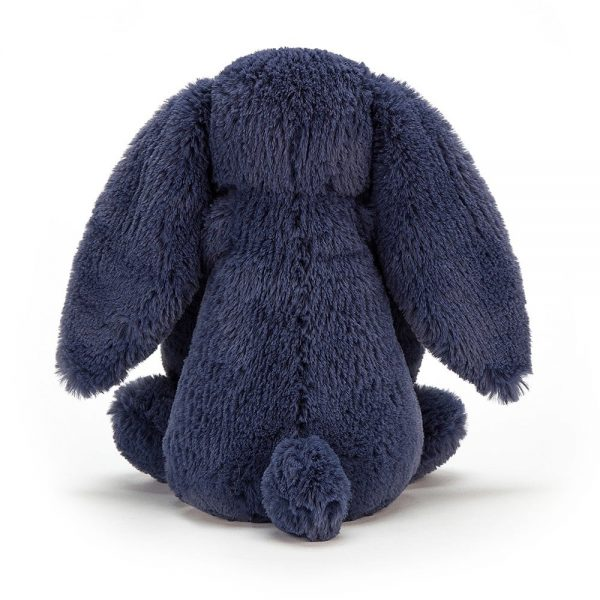 Jellycat Bashful Navy Bunny Small Rear