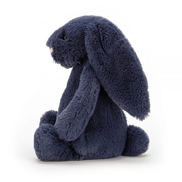 Jellycat Bashful Navy Bunny Small Side