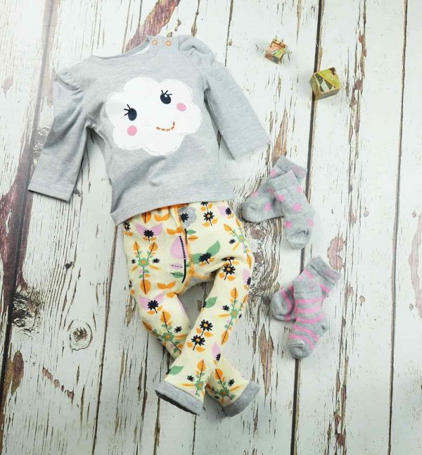 blade and rose flower face leggings with matching items