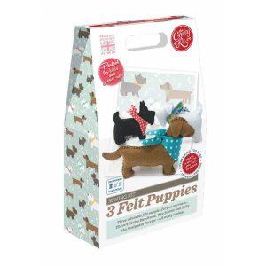 Crafty Kit Company – 3 Felt Puppies Sewing Kit