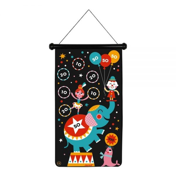 janod-magnetic-darts-circus--elephant-and-acrobat-side