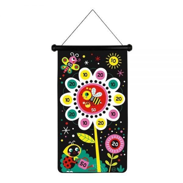janod-garden-magnetic-darts-large-flower-target-side
