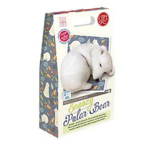 Crafty Kit Company – Snoozy Polar Bear Needle Felting Kit