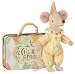 Maileg Mouse Circus Clown, in Cirque De L'Amour Suitcase