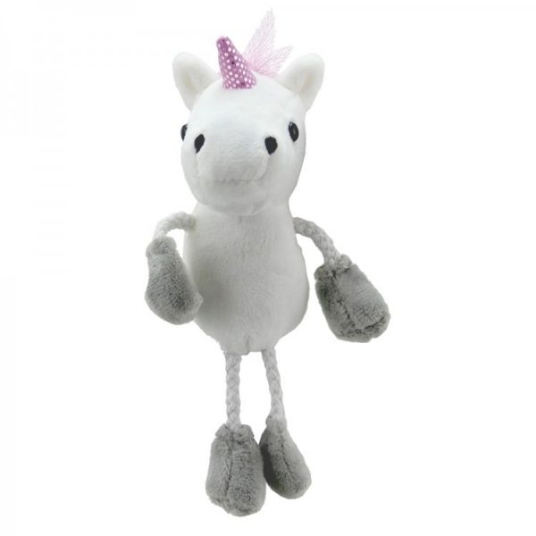 The Puppet Company Unicorn Finger Puppet Front