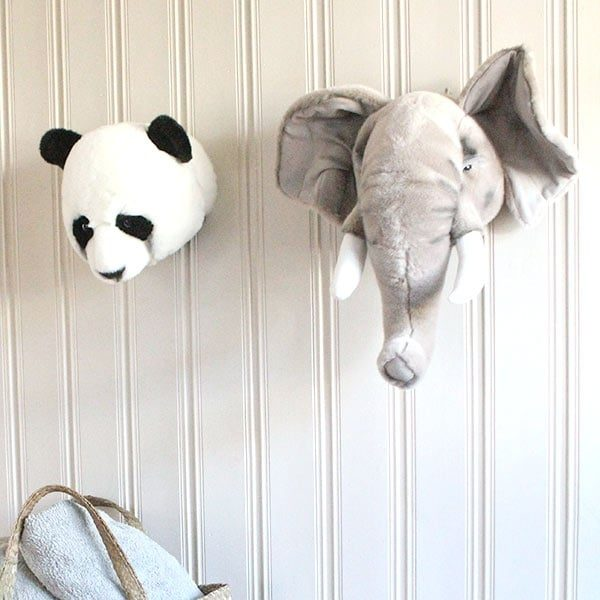 Wild and Soft Animal Trophy Head - George the Elephant wall