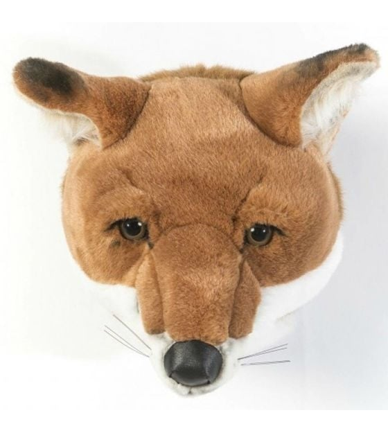 Wild and Soft Animal Trophy Head - Louis the Fox Front