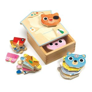 Djeco Dress-Up Mix Wooden Relief Puzzle