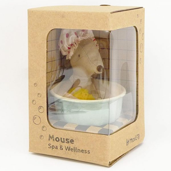 Maileg Spa and Wellness Mouse in packaging