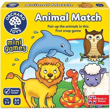 Orchard Toys Animal Match Mini Game Cards