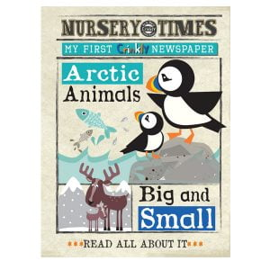 Nursery Times Crinkly Newspaper – Arctic Animals
