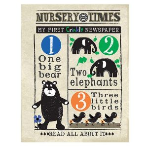Nursery Times Crinkly Newspaper – Counting Creatures 1,2,3