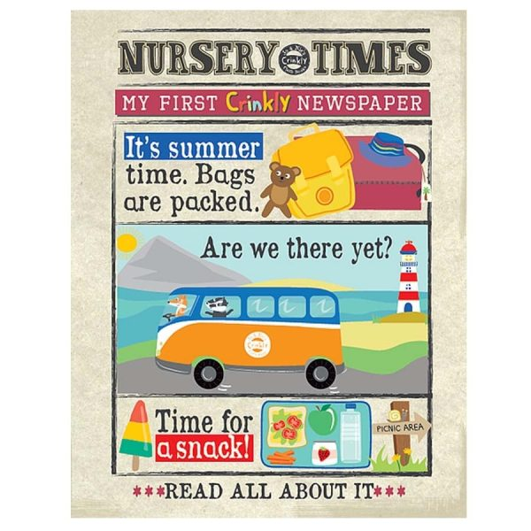 Nursery Times Crinkly Newspaper - It's Summertime FRONT