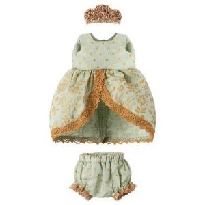 Maileg Mouse Princess Dress – Mint & Gold