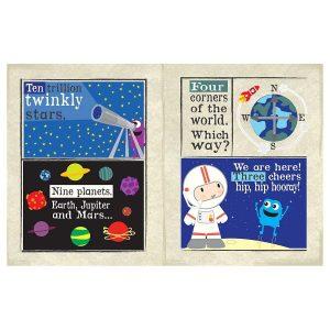 Nursery Times Crinkly Newspaper – Space