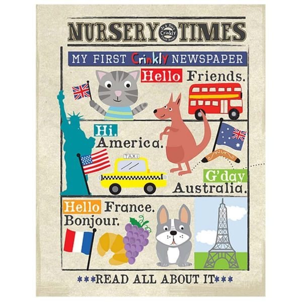 Nursery Times Crinkly Newspaper - Front Cover