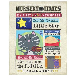 Nursery Times Crinkly Newspaper – Hey Diddle Diddle