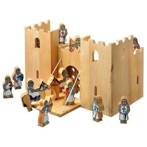 Lanka Kade Wooden Castle Playscene with 12 Knights
