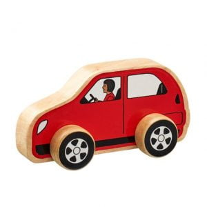 Lanka Kade Wooden Red Car