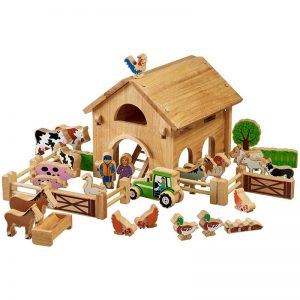 Lanka Kade Wooden Deluxe Farm and Barn with Colourful Characters