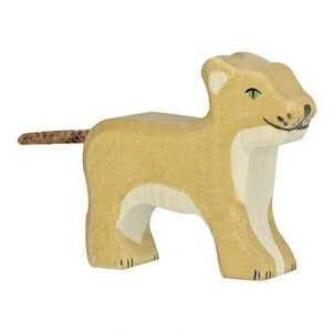 Holztiger Small Lion Standing