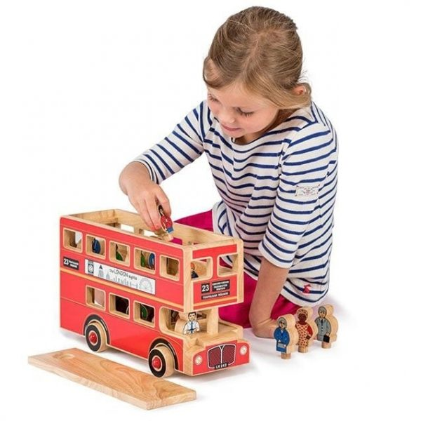 Lanka Kade Wooden Deluxe Wooden Bus with Girl