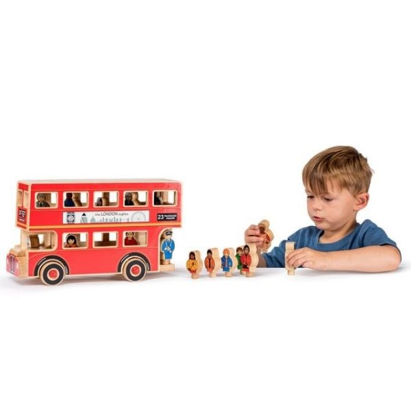 Lanka Kade Wooden Deluxe Wooden Bus with Boy