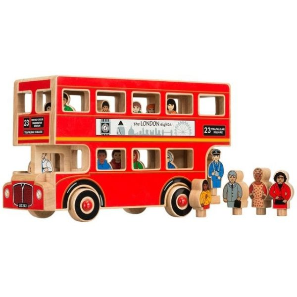 Lanka Kade Wooden Deluxe Wooden Bus with characters