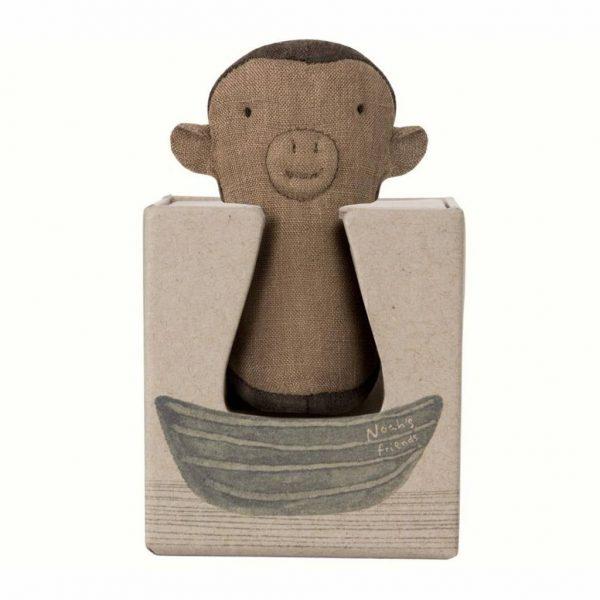 Maileg Noah's Friends Monkey Rattle Box