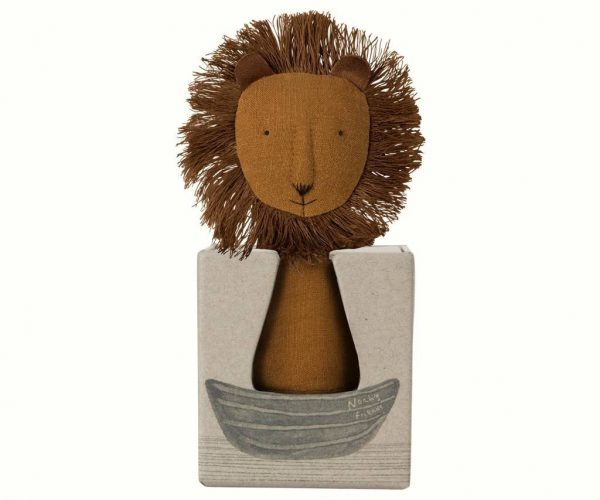 Maileg Noah's Friends Lion Rattle Boxed