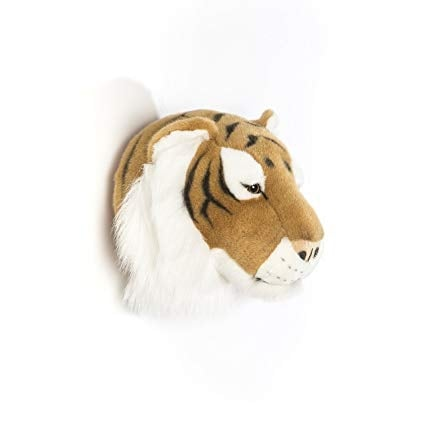 Wild and Soft Animal Trophy Head - Felix the Tiger Side