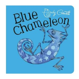 Blue Chameleon Board Book by Emily Gravett