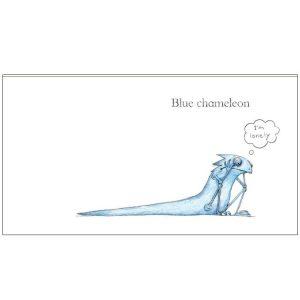 Blue Chameleon Board Book by Emily Gravett