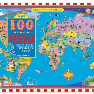 Eeboo World Map Puzzle 100pc