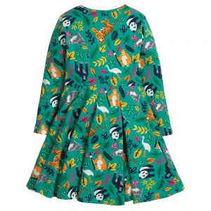 Frugi Endangered Heroes Sofia Skater Dress