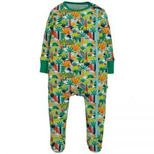 Frugi Zipped Babygrow – Jungle